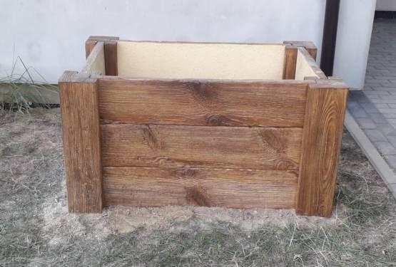 Donice ogrodowe z drewna betonowego!