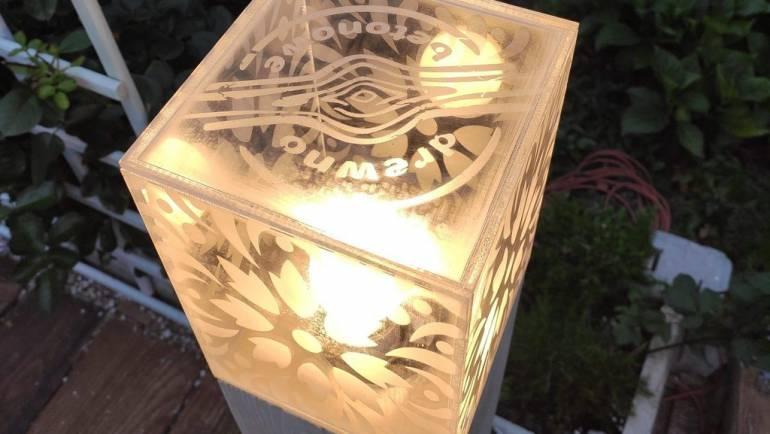 Oświetlenie ogrodowe z drewna betonowego!